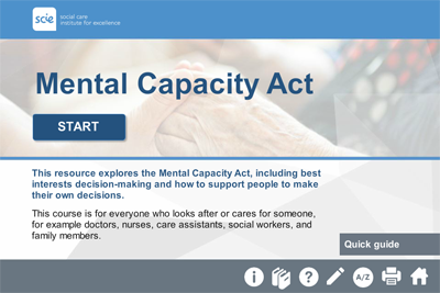 Mental Capacity Act (MCA): e-Learning course